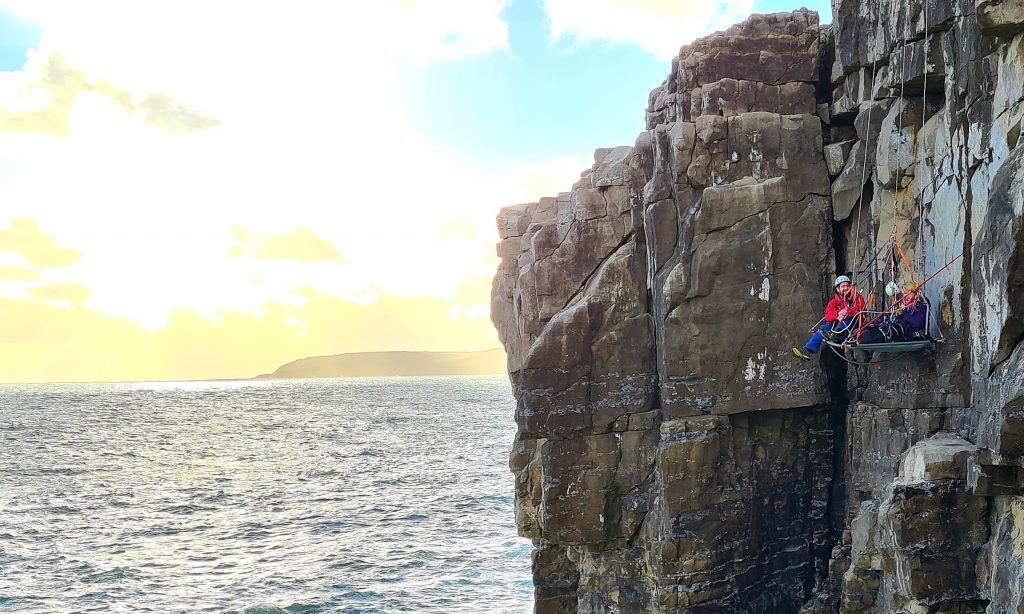 Sea cliff camping with Hepworth Adventures